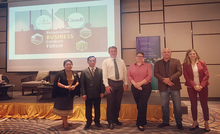 PanAust speaks about corporate social responsibility at Austcham Lao PDR Forum