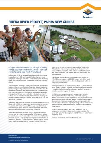 Fact sheet - Frieda River Project