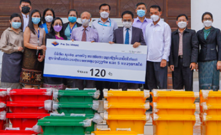 Company provides COVID-19 waste disposal bins to the Government of Laos
