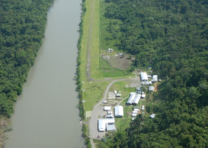 Aerial l photo of the Frieda River Exploration site