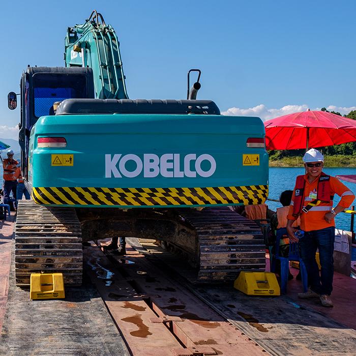 Phu Bia Mining Logistics barge operation