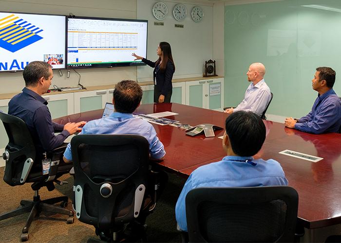 Phu Bia Mining Logistics team meeting