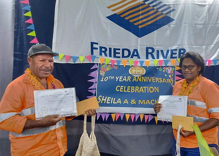 Frieda River employees celebrate 10 years