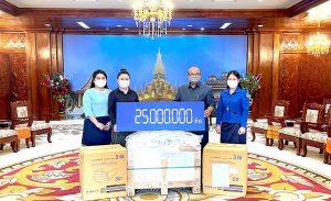Phu Bia Mining donates medical equipment to Vientiane Taskforce