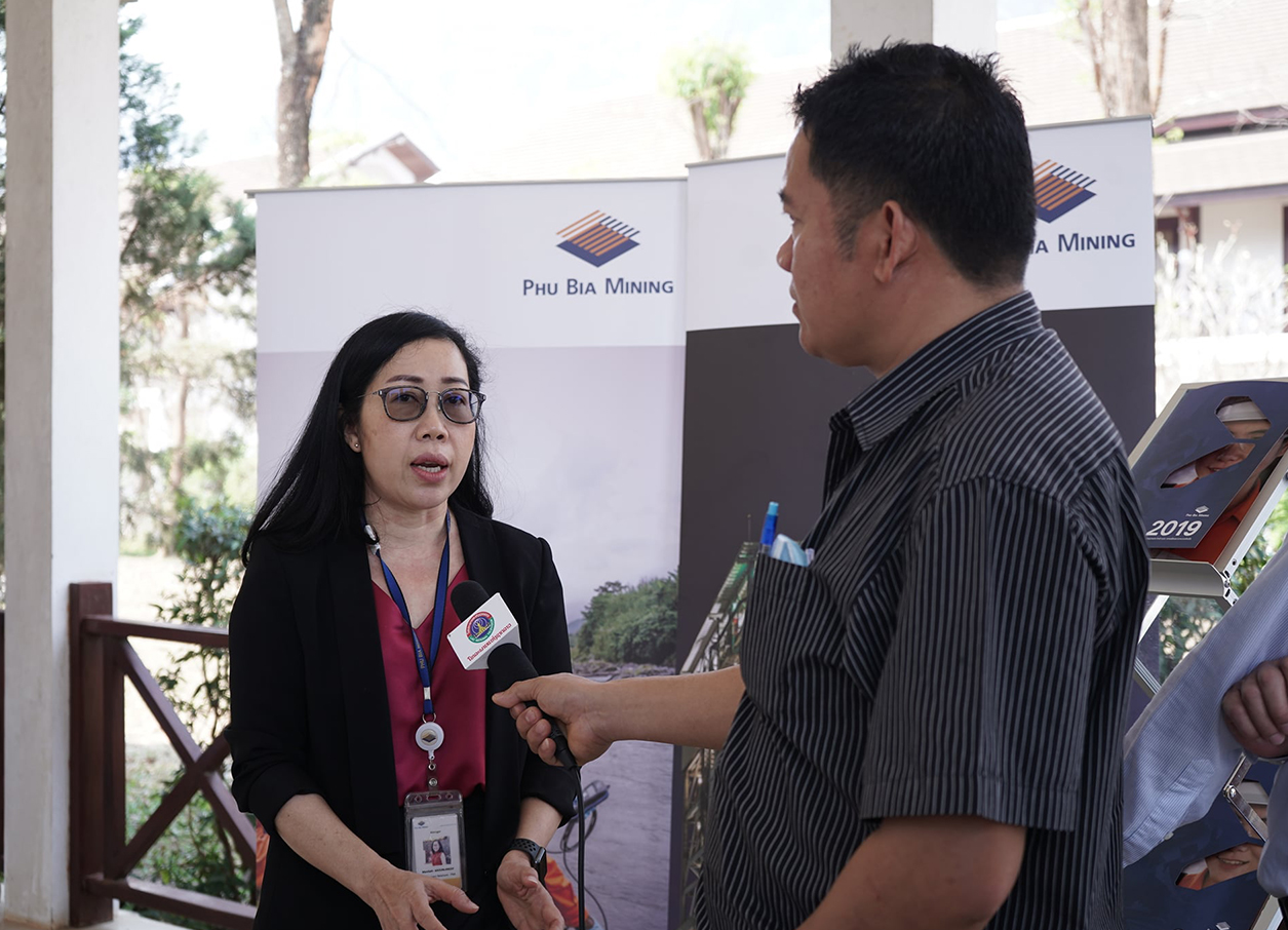 Phu Bia Mining annual contributions media interview