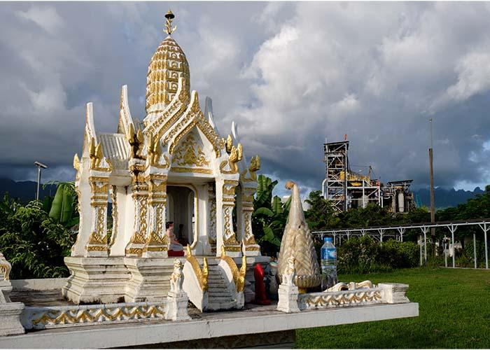 Spirit house at the Phu Kham Operation