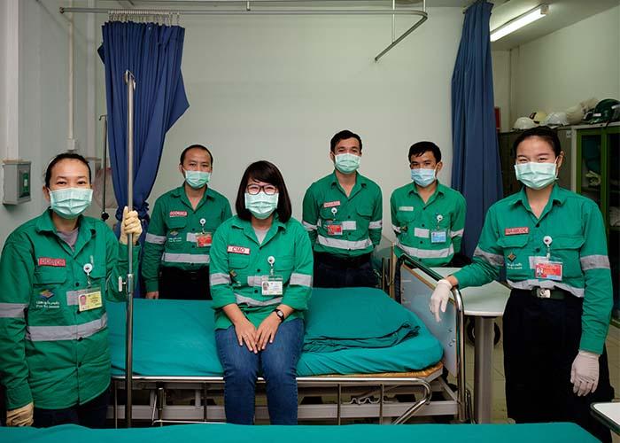 Phu Kham site Medical team