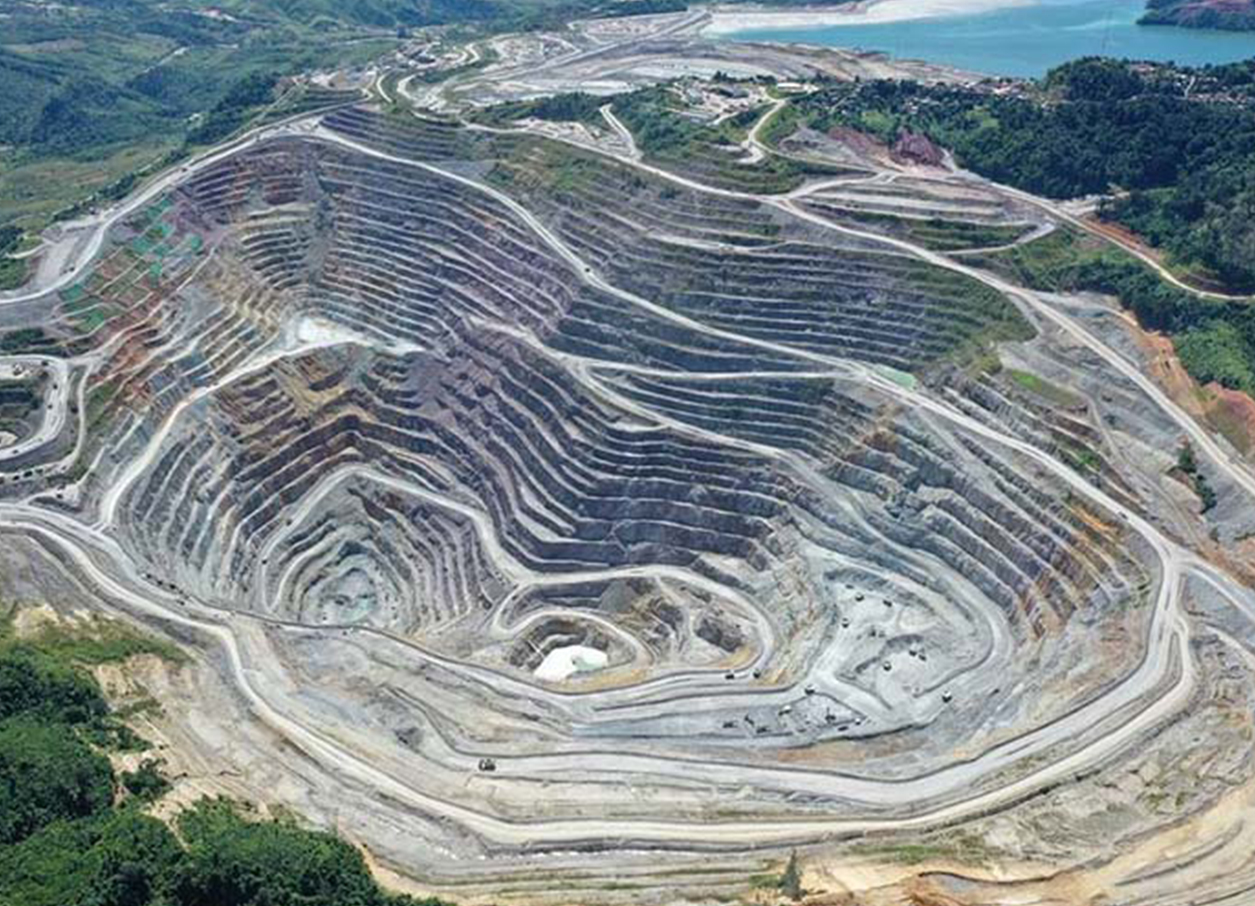 Aerial of the Phu Kham open-pit