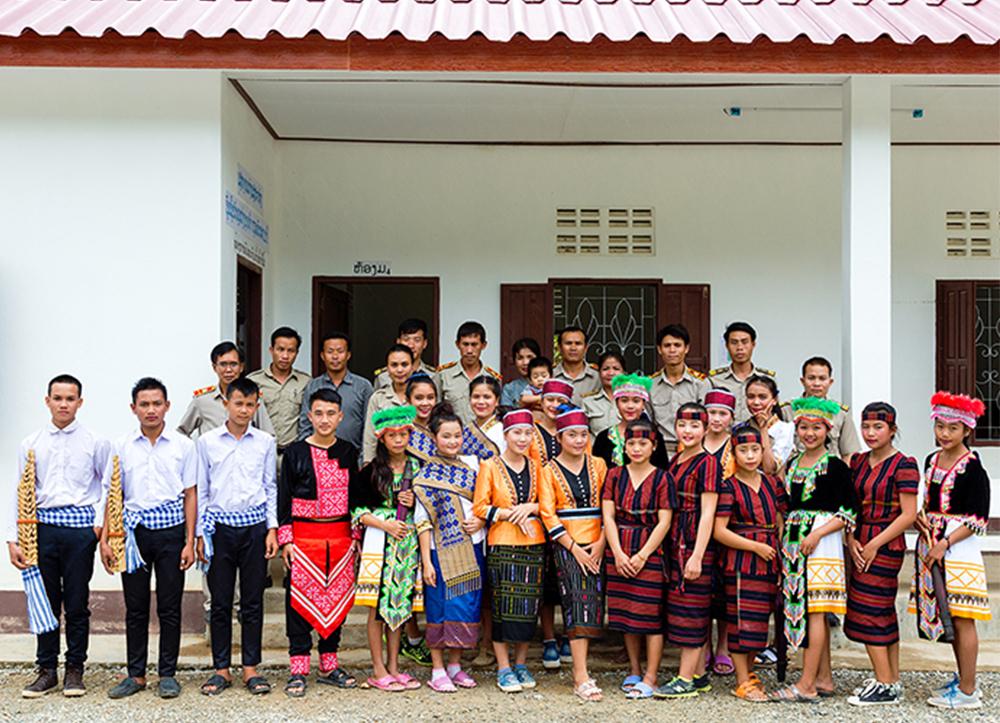 School children from Nam Mo Village Secondary School near the Operation
