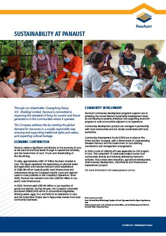 Sustainability at PanAust_Economic contribution